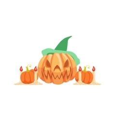 Halloween Pumpkin Lantern As Autumn Attribute vector