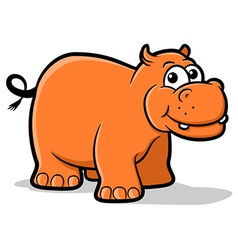 Hippo cartoon vector