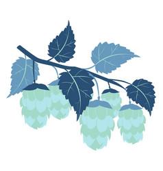 hops plant cartoon colorful flat color vector image