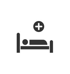 hospital bed medicine flat icon vector image