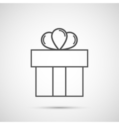 Icon Christmas gift box for holiday season vector image