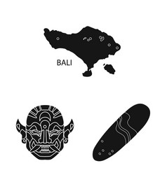 Isolated object and traditional logo vector