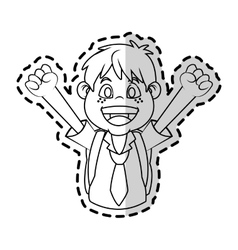 Isolated school boy design vector
