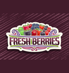 logo for fresh berries vector image