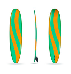 Longboard with three sides vector