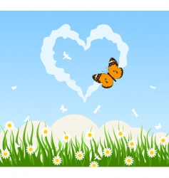love cloud vector image