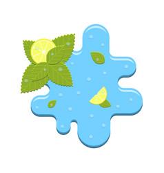 Mint and lemon in water vector