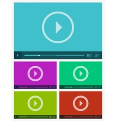 Modern flat video player interface vector