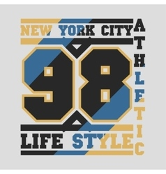 New York typography design graphic vector