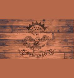 north dakota state flag brand vector image