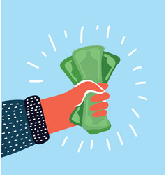 Pay us dollar on a white background vector