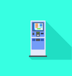 Payment kiosk icon flat style vector
