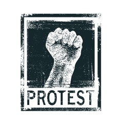 Protest poster vector