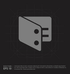 purse icon - black creative background vector image