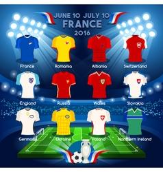 Qualified Teams EURO 2016 vector