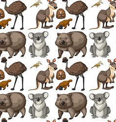 Seamless background with Australian animals vector