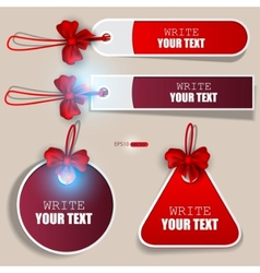set of bubbles stickers labels tags vector image
