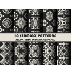 set of geometric patterns for design vector image