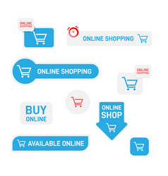 set stickers labels banners for online shop vector image