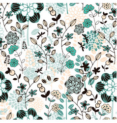 Summer pattern with nature vector