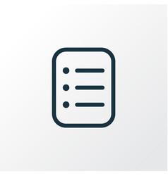 task list icon line symbol premium quality vector image