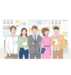 Teamwork people working in team business meeting vector