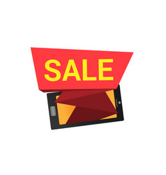the inscription sale from the smartphone vector image