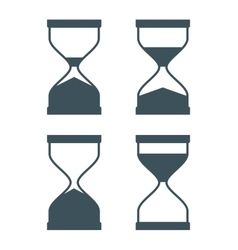 Time design hourglass icon Flat vector image
