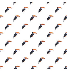 toucan pattern seamless vector image