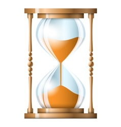 Transparent sand hourglass isolated on white vector