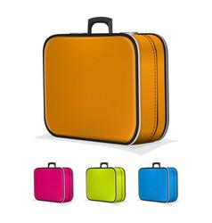 Vintage suitcases set vector