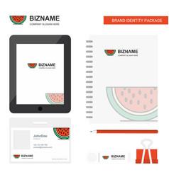 Water melon business logo tab app diary pvc vector
