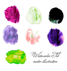Watercolor blots set vector