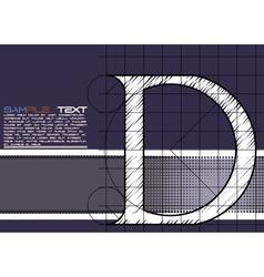 White grid d vector