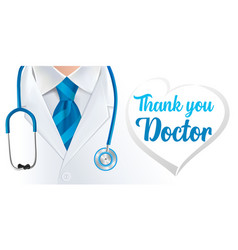 world health day thank you doctor vector image