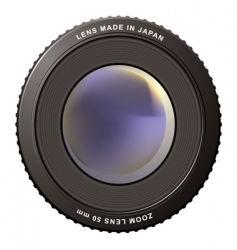 zoom lens misty vector image