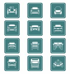 cars icon-set vector image vector image