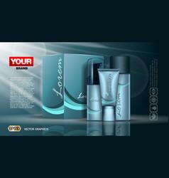 digital blue skin vector image