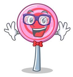 geek cute lollipop character cartoon vector image vector image