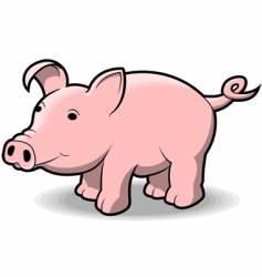 little piggy vector image