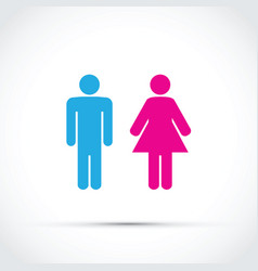 men and women toilet sign vector image