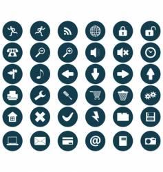 round icons set vector image
