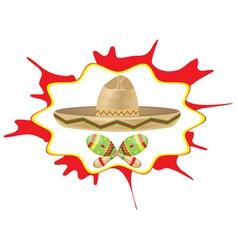 Sombrero and Maracas6 vector image