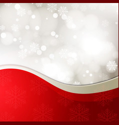 christmas background with bow - vector image vector image