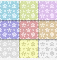 colored flower pattern seamless background vector image