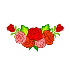 Decoration with mexican flowers vector