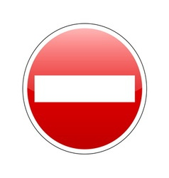 no entrance sign red vector image
