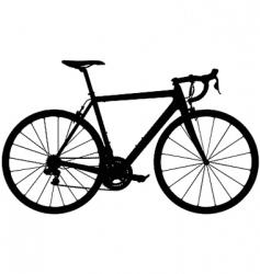 road racing bike silhouette vector image