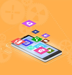 smartphone interface vector image vector image