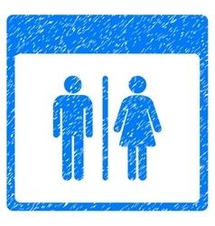 Toilet Persons Calendar Page Grainy Texture Icon vector image vector image